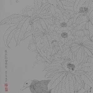 01《莲玉蕊番鸭图》陈桂荣(陈墨)